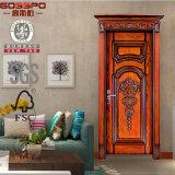 Puertas de madera antiguas talladas internas de la madera para las casas (GSP2-060)