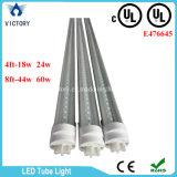 La sola fila AC85-285V calienta la luz blanca del tubo de T8 18W LED