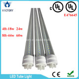 Tubo de luz de una hilera de AC85-285V blanco cálido T8 18W LED