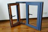El último diseño de cristal templado doble de madera y de aluminio Ventana del marco