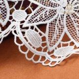 Tela bordada seda do laço do preço de Fatory do laço do leite da forma L20010 para a fatura do vestido
