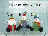 산타클로스, 눈사람 및 큰사슴 Doorstopper 크리스마스 훈장 선물