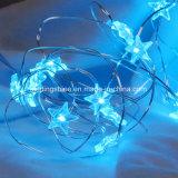 Шнур голубой звезды льда Fairy освещает освещаемые батареей водоустойчивые светляка медного провода