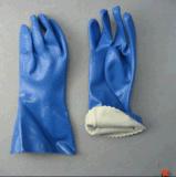 Het koord breit Handschoen van pvc van de Palm van de Voering van Jersey de Zandige (5134)