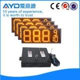 Hidly el panel del precio de la gasolina de Asia LED del amarillo de 12 pulgadas