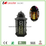 Zwarte Decoratieve Lantaarn met het LEIDENE Licht van de Kaars voor Huis en OpenluchtDecoratie