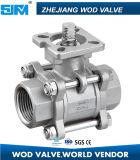 Vanne à bille CF8m CF8 3PC en acier inoxydable avec ISO5211