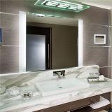 Espejo encendido LED moderno de la luz de la vanidad de Fogless del hotel del diseño IP44