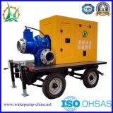 Estação de bomba centrífuga de irrigação agrícola de motor diesel portátil