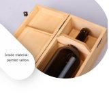 Sencillo de pino natural de vino de madera Storaging caja de regalo