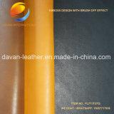 La alta calidad vendedora caliente aplica apagado el cuero sintetizado del efecto con brocha para los zapatos