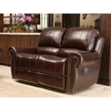 Sofa étendu en cuir des Dessus-Graines manuelles de théâtre à la maison avec la garniture de Nailhead