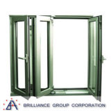 Größe der Bescheinigungs-As2208 passte Aluminiumbi-Falten-Fenster an