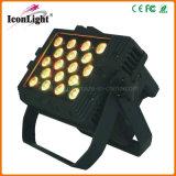 Luz ao ar livre impermeável da PARIDADE do diodo emissor de luz do diodo emissor de luz RGB do poder superior 18X10watt 4in1 5in1