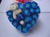 Flor artificial de la flor de Rose del jabón del regalo de la promoción para la boda y el regalo de la tarjeta del día de San Valentín