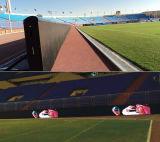 Perimetro esterno di P10 SMD che fa pubblicità allo schermo di gioco del calcio LED