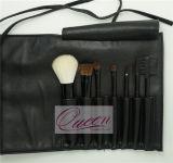 La spazzola cosmetica 7 PCS di marchio della maniglia su ordinazione del nero compone l'insieme di spazzola