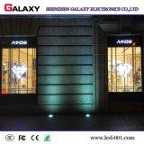 透過フルカラーP3.75/P5/P7.5/P10か広告のためのガラスまたはWindowsまたはカーテンLEDのビデオ・ディスプレイスクリーンまたは印または壁