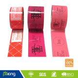 Bande colorée d'emballage du logo BOPP Prined pour le cachetage de carton
