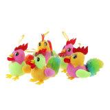 Jouets chinois colorés de poulet de peluche d'année neuve