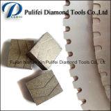 Segmento sinterizado caliente del diamante de la herramienta de la autógena del laser de la plata para el uso de piedra