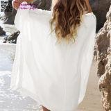 Beachwear blanco L38469-1 del poncho del ganchillo del kimono