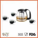 卸売価格テーブルウェアガラスやかんの茶鍋およびやかんセット