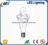ses LEDの蝋燭LEDの軽い電球の蝋燭の新しい現代ステンドグラスランプE27 LED人工的な塗られたランプ