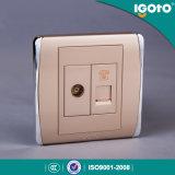 Zoccolo di parete elettrico standard di Igoto BS TV+Telephone