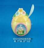Vaso di ceramica dello zucchero del coniglietto di pasqua