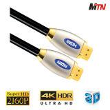Кабель высокой эффективности 4k HDMI с локальными сетями, 2160p для Uhd TV.