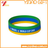 Silicones colorés Wrisband de promotion de bracelet Customed (YB-HR-97)