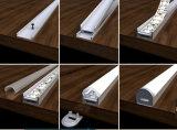 Perfil de alumínio da extrusão do OEM para a luz de tira do diodo emissor de luz