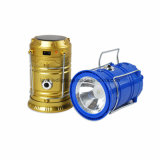 LEDのポータブルのキャンプの太陽再充電可能なランタンの懐中電燈