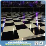 Оптовая танцевальная площадка переклейки грецкого ореха, белизны и высокого качества Balck Polished для Rental