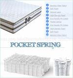 Colchón de resorte natural del bolsillo de la espuma del látex de la venta caliente con la calidad de Hight