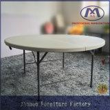 Table ronde extérieure de Tableau de Tableau en plastique pliable avec le tube en métal