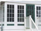 Finestra di UPVC con le barre coloniali che fabbricano la finestra della cerniera PVC/UPVC della finestra del PVC