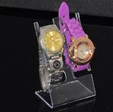 Crémaillère d'étalage acrylique de support de montre-bracelet de bracelet de bijou