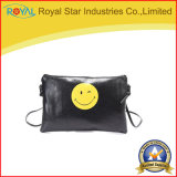 Bolsa pequena do saco de ombro das mulheres do plutônio da forma com face de sorriso