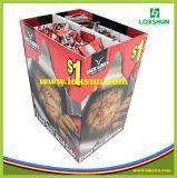 마분지 또는 주름을 잡은 전시 판지 상자