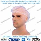 非編まれた使い捨て可能なBouffant帽子外科使用Qk-Bc001のための18~28インチ
