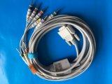 Cable del IEC DIN3.0 EKG/ECG de Nihon Kohden 15pin