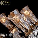 Moderne Art-bernsteinfarbiges Kristallleuchter-Licht