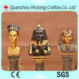 Estatuilla egipcia antigua del Pharaoh de la venta de la resina casera hecha a mano caliente de la decoración