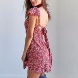 Form-Frauen-Chiffon- gedrucktes Backless Verband-Kleidung-Kleid