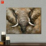 Pintura al óleo del elefante de la sabana de la alta calidad en lona