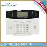 Sistema de alarma sin hilos del G/M de la dial auto del telclado numérico del tacto del LCD del profesional para el hogar