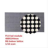 El módulo de interior de F5.0 SMD RGY LED es los pixeles 64X32 con Hub08, talla es 488X244m m, 1/16 que explora por voltaje constante