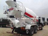 Volumen del carro del mezclador concreto de HOWO 6X4 de carros concretos